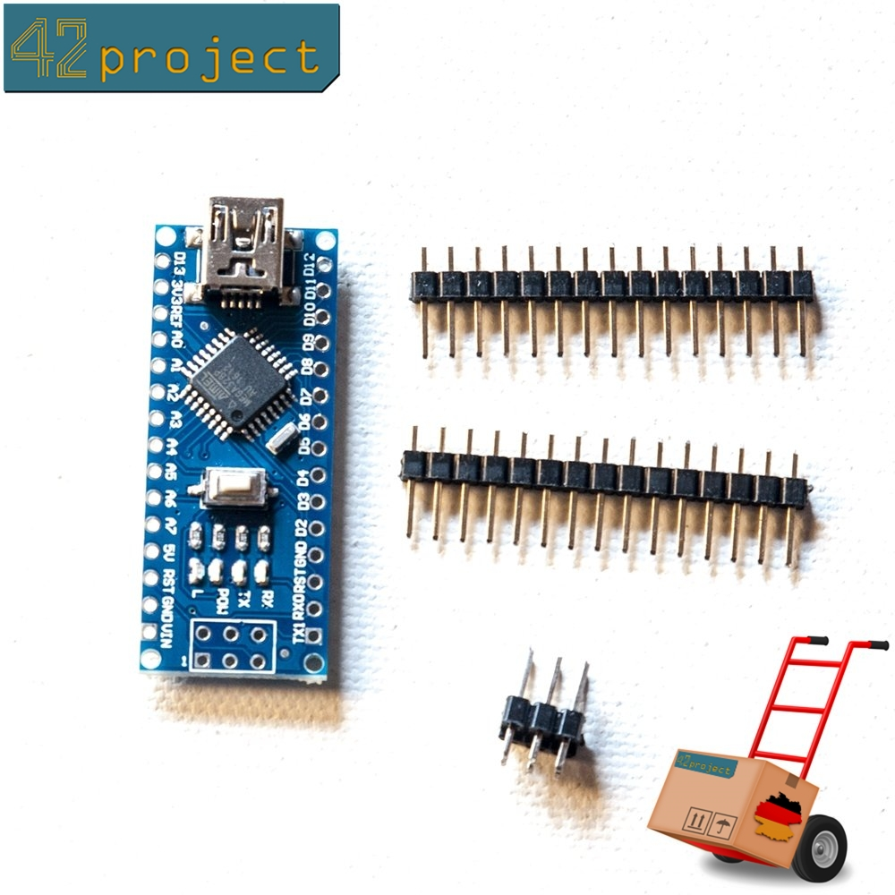 """Nano V3.0 Modul """"GETESTET"""" ATmega328P Board USB CH340G Arduino kompatibel *E01P"""