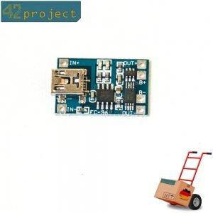 Lithium Akku Lademodul 1A mit Tiefentladungsschutz 2,5V TP4056 Ladeschlussspannu