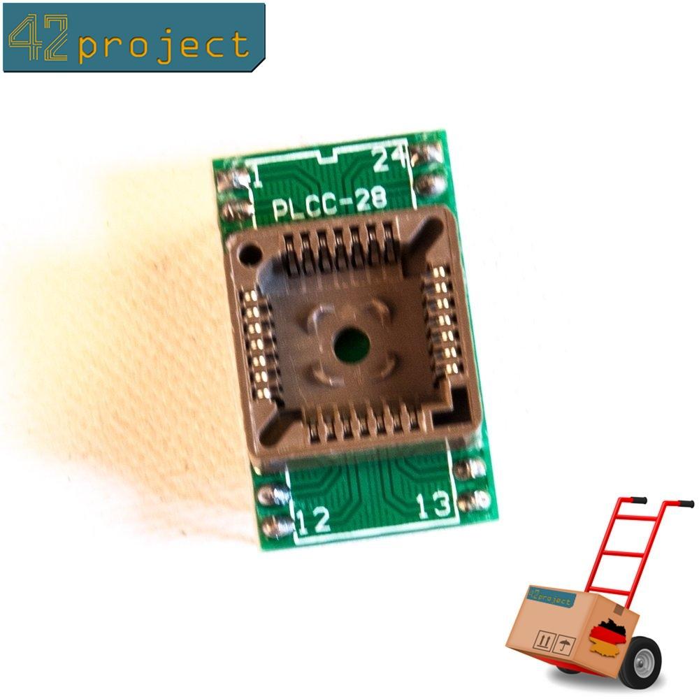 QFJ28/ PLCC28 zu DIL / DIP24 Programmieradapter 28 Pin-Sockel zu 24 Pin SMD