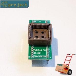 QFJ44 / PLCC44 zu DIL40 / DIP40 Programmieradapter 40 Pin Breadboard kompatibel