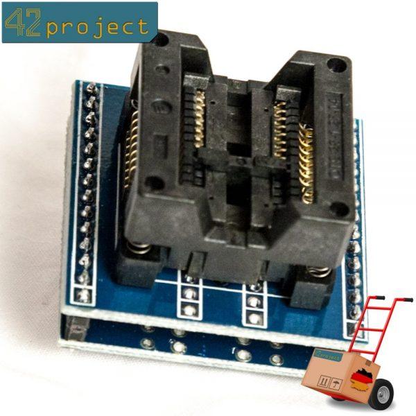 SMD-IC-Sockel (Programmier-Adapter) SO16 (SOIC16) auf DIP 2,54mm 300mil