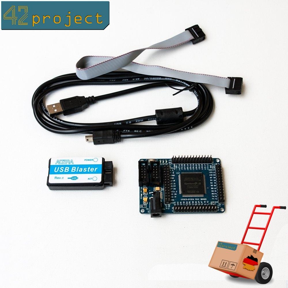 Altera Cyclone II EP2C5T144 FPGA Development Board + USB Blaster JTAG programmer