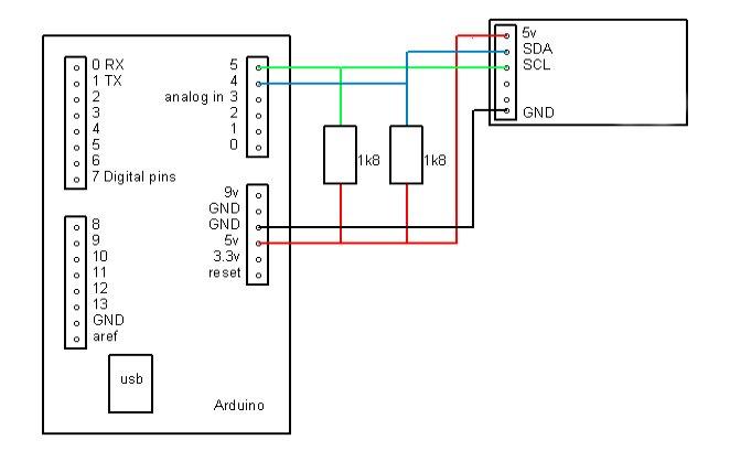 I2C im Arduino mit Beispiel