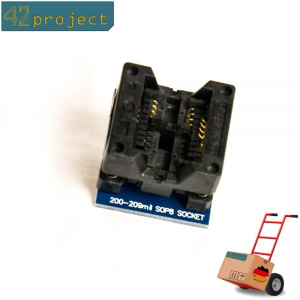 SO8 / SOP8 zu DIP8 / DIL8 Adapter für Chips mit 8 Beinen 200 mil (SOP8 to DIP8)