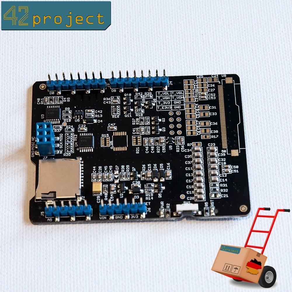"""E-Paper Shield EPD von Seedstudio für Arduino 1.44"""" 2.0"""" 2.7"""" mit microSD E-Ink"""