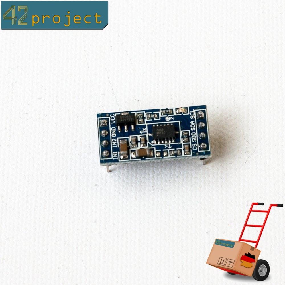 MMA7455 3Achsen Beschleunigungssensor G-Sensor I2C SPI Accelerometer für Arduino