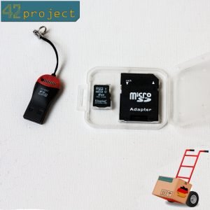 microSD-Karte 8GB Klasse Class 10 SDHC SD-Card und USB 2.0 Adapter Speicherkarte