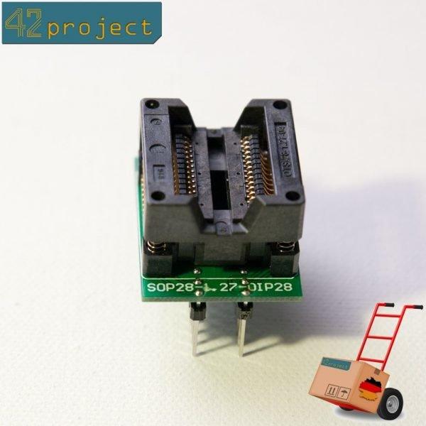 SMD SO28/SOP28 zu DIP28/DIL28 300mil Adapter für 28 Beinen Programmieradapter