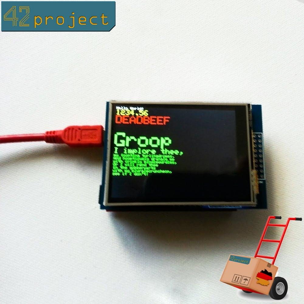 """Touchscreen 2.8"""" inch Zoll 240x320 SD SPI TFT LCD MCUfriend display für Arduino"""