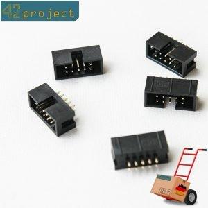 5 x Wannenstecker 10 pol. pin, DC3, DIP RM2,54 Wannen-Stiftleiste Steckverbinder