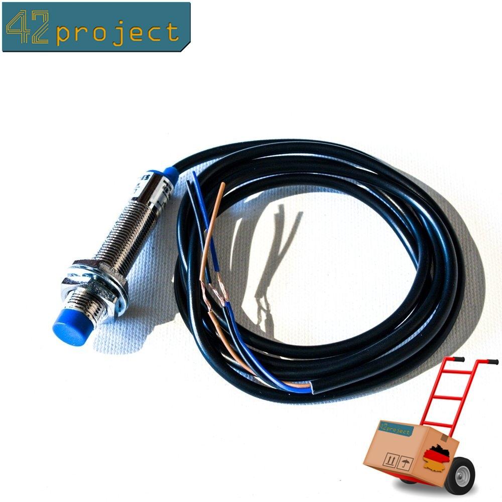 Induktive Näherungsschalter 4mm NPN Näherungssensor DC6-36V LJ12A3-4-Z BX 12mm