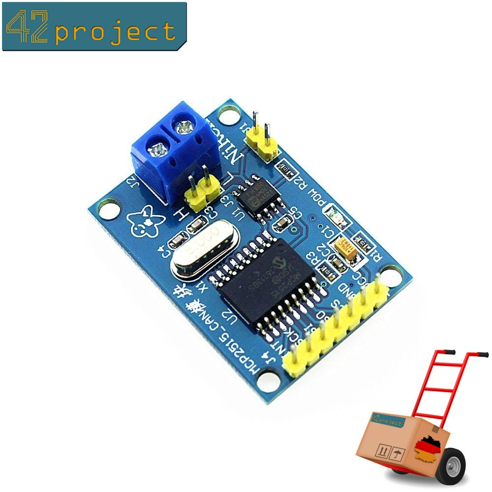 SPI MCP2515 CAN Bus Modul TJA1050 Transceiver Shield 5V 3,3V für Arduino und Pi