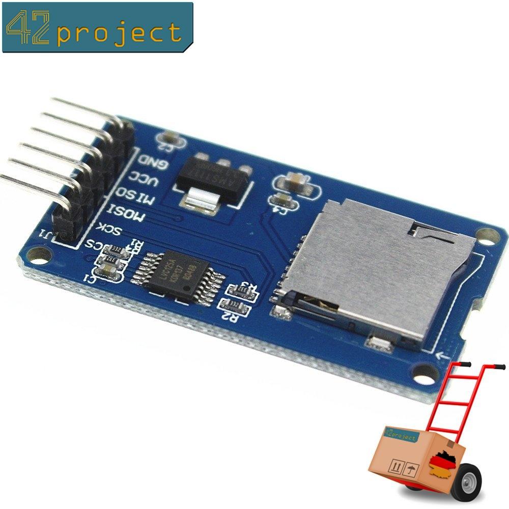 Micro SD  Speicher Board Modul TF-Kartenleser SPI für Arduino