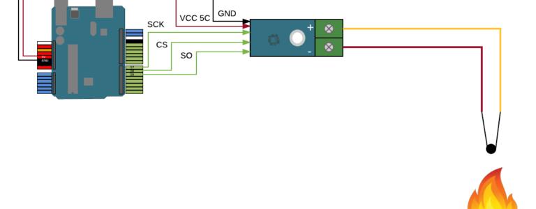 MAX6675 Modul für Themoelemente - Aufbau