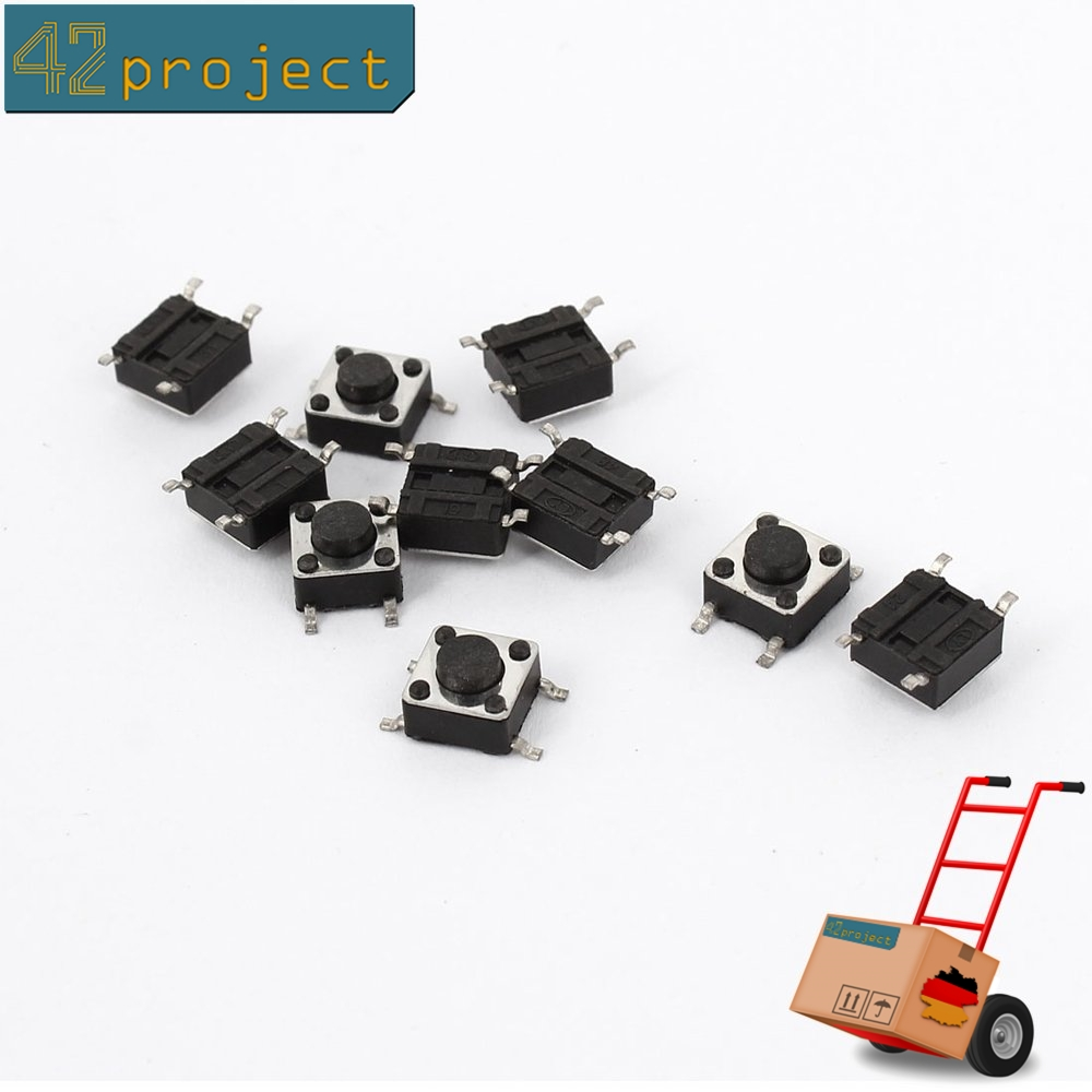 DPDT Mini Druckschalter Taster 6 Pin Quadratisch 8mmx8mm Selbsthemmung 25 Stück