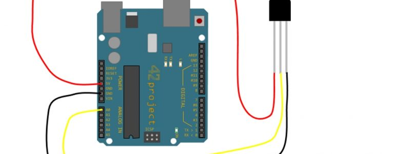 TMP36 Temperatursensor Thermometer Analog Temperatur Sensor TMP36GZ anschluss arduino