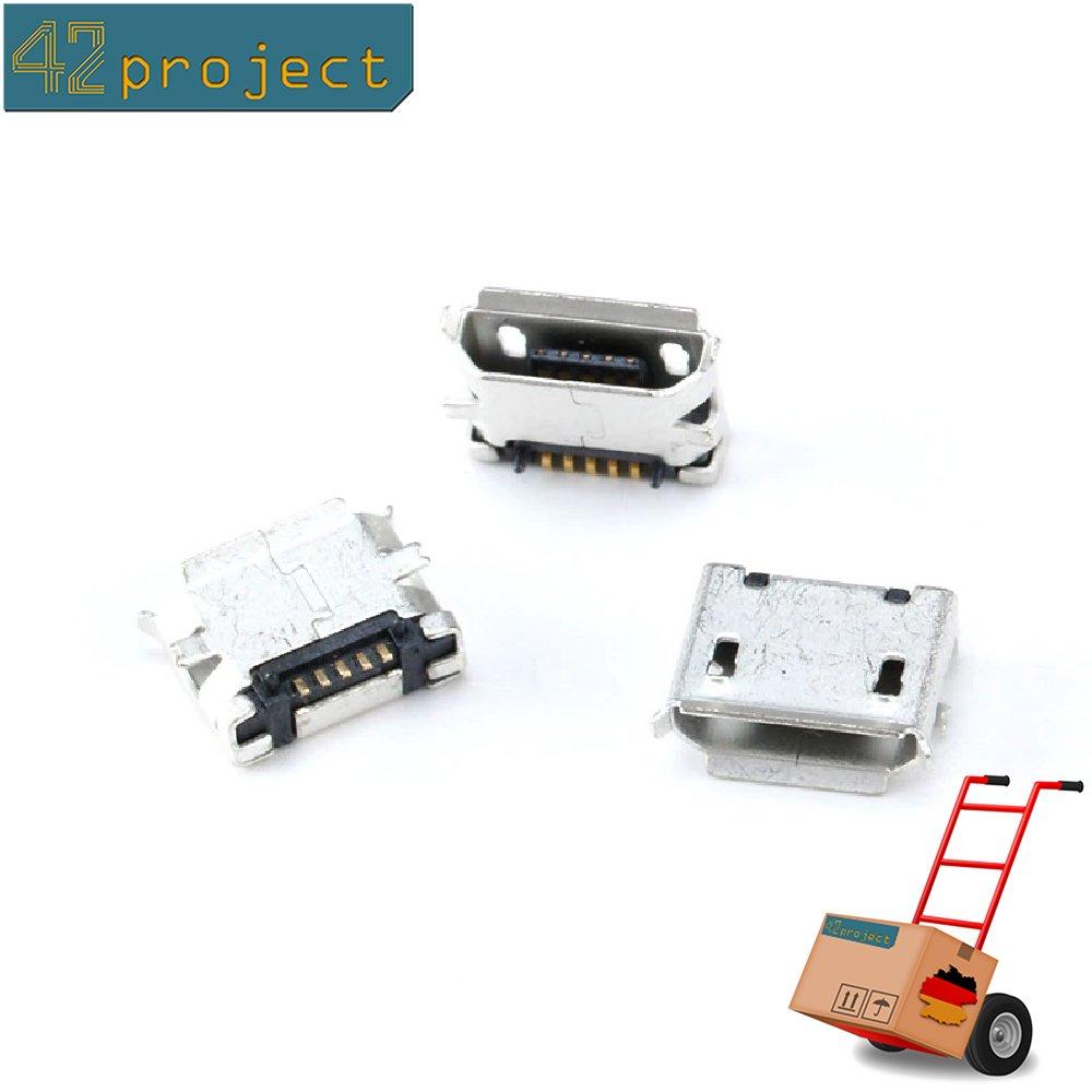 Micro USB Buchse Typ 2 Einbaubuchse Printmontage Lötmontage Einbau Buchse SMD